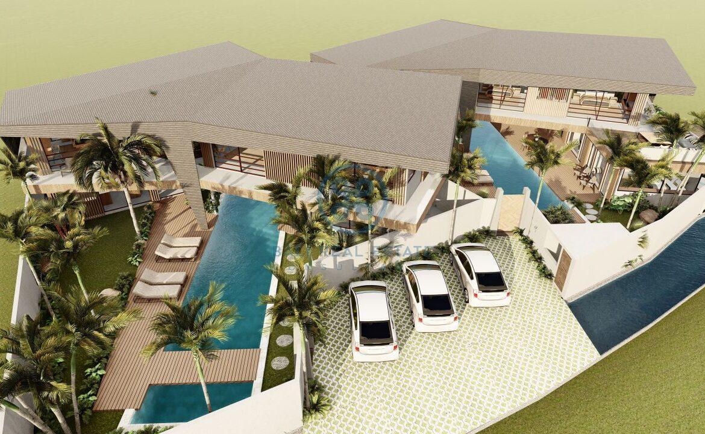 4 5 bedroom leasehold designer villa development canggu berawa for sale3 scaled