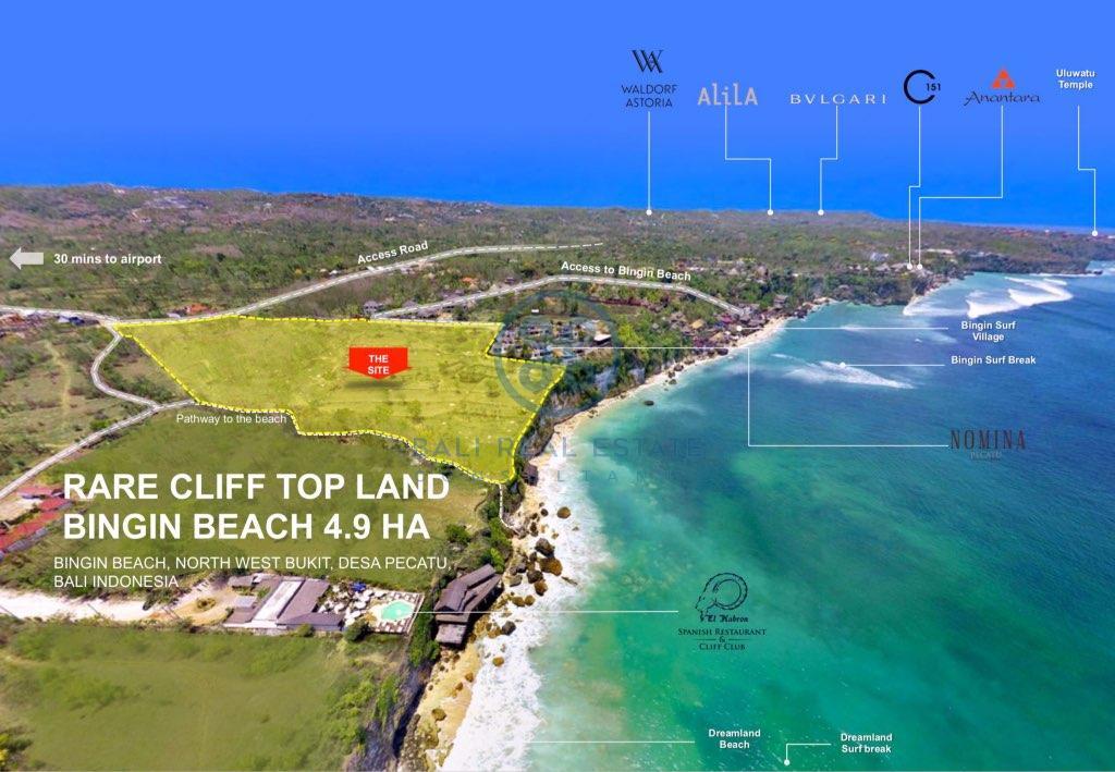 ha clifftop land bingin beach for sale