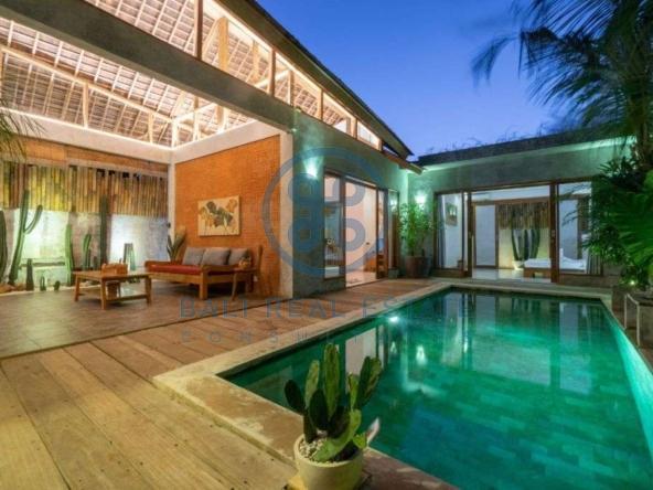 bedroom minimalist villa jimbaran for rent sale